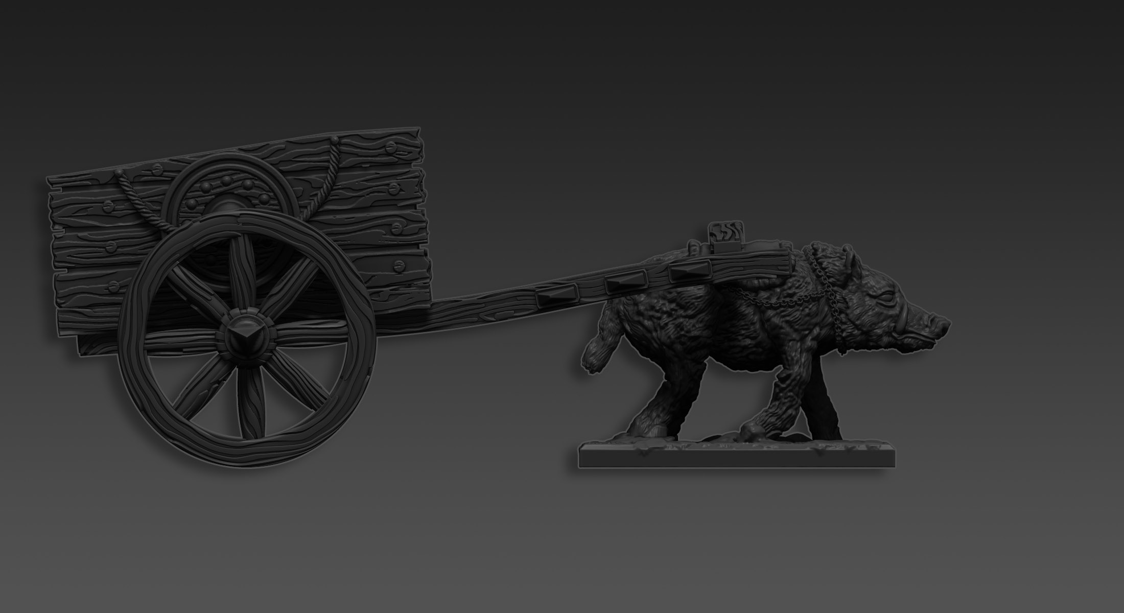 ZBrush 3D Printing Course - Goblin War Chariot