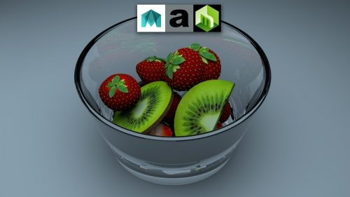 Maya 2016 Model and Render Fruit with Arnold and Mentalray