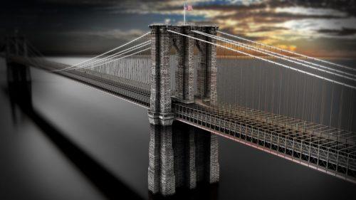 "Maya Training – Creating/Modelling ""The Brooklyn Bridge"""