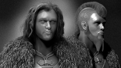 ZBrush 4 – Create Hair & Fur with Fibremesh, Game of Thrones