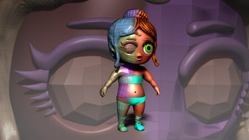ZBrush Course – Learn Re-topology and have control in ZBrush
