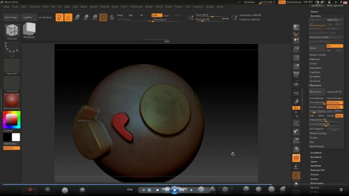 ZBrush ZRemesher 3.0 Edgeflow using polygroups and re-evaluate groups