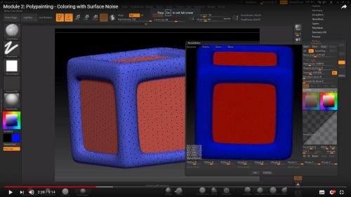 Polypainting – Colouring with Surface Noise