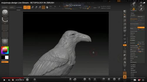 Live Stream – RETOPOLOGY IN ZBRUSH